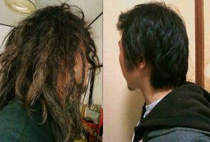 フリーフォームで普通の髪の毛がドレッド化する過程 phase of freeform dradlocks japanese