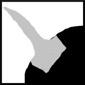 太いドレッドは頭皮上の大きな面積の髪が使われる