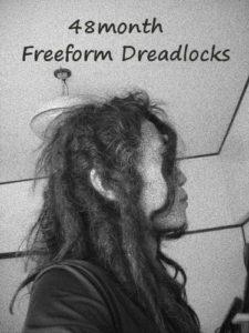48ヶ月経過。フリーフォーム自作ドレッド。日本人のドレッドヘア。